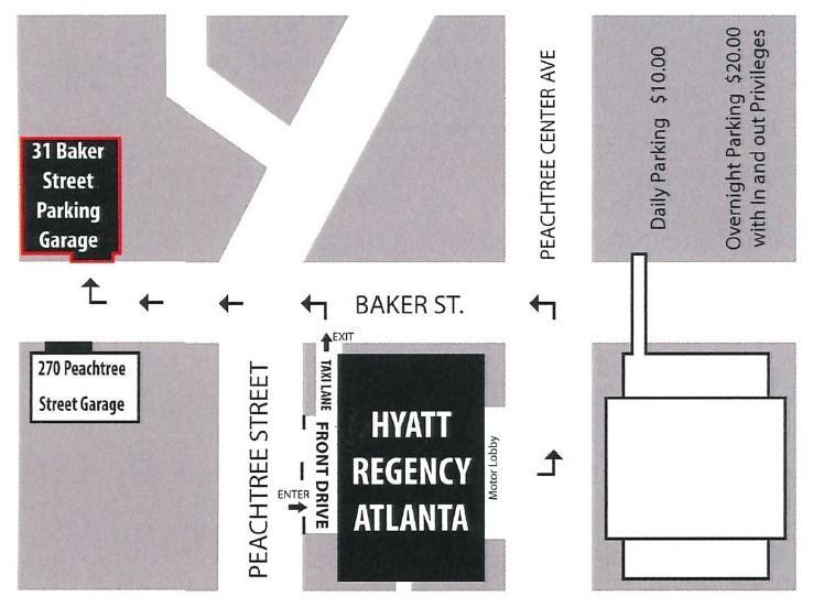 Hyatt Regency Atlanta Parking Map